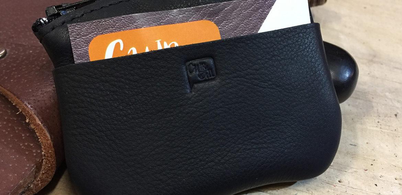 Porte-monnaie avec fermeture éclair et porte-cartes