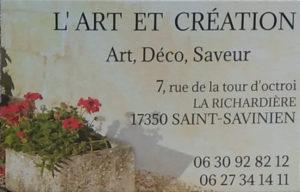 Boutique l'Art et création
